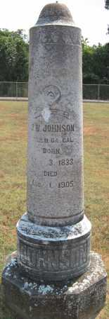 JOHNSON (VETERAN CSA), J. W. - Adair County, Oklahoma | J. W. JOHNSON (VETERAN CSA) - Oklahoma Gravestone Photos