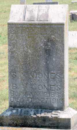 JONES, S. E. - Adair County, Oklahoma   S. E. JONES - Oklahoma Gravestone Photos