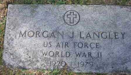 LANGLEY JR (VETERAN WWII), MORGAN J. - Adair County, Oklahoma | MORGAN J. LANGLEY JR (VETERAN WWII) - Oklahoma Gravestone Photos