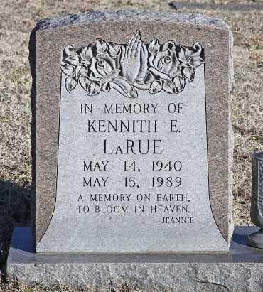 LARUE, KENNITH E. - Adair County, Oklahoma | KENNITH E. LARUE - Oklahoma Gravestone Photos