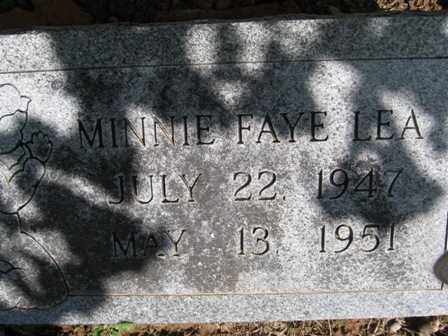 LEA, MINNIE FAYE - Adair County, Oklahoma | MINNIE FAYE LEA - Oklahoma Gravestone Photos
