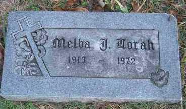 LORAH, MELBA J. - Adair County, Oklahoma | MELBA J. LORAH - Oklahoma Gravestone Photos