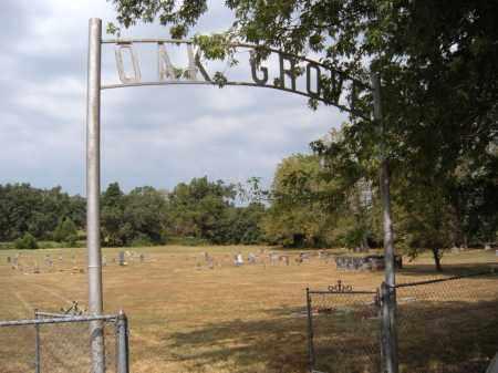 SIGN, *OAK GROVE CEMETERY - Adair County, Oklahoma | *OAK GROVE CEMETERY SIGN - Oklahoma Gravestone Photos