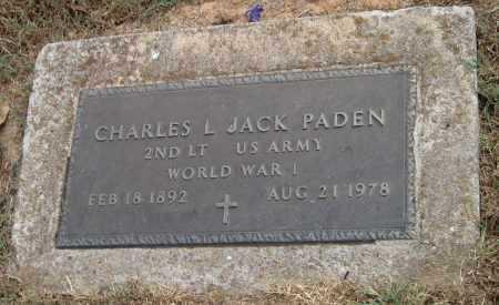 PADEN (VETERAN WWI), CHARLES L. JACK - Adair County, Oklahoma | CHARLES L. JACK PADEN (VETERAN WWI) - Oklahoma Gravestone Photos