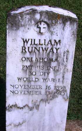 RUNWAY (VETERAN WWI), WILLIAM - Adair County, Oklahoma | WILLIAM RUNWAY (VETERAN WWI) - Oklahoma Gravestone Photos