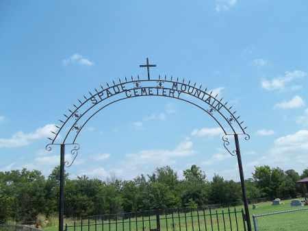 *SPADE MOUNTAIN CEMETERY SIGN, . - Adair County, Oklahoma | . *SPADE MOUNTAIN CEMETERY SIGN - Oklahoma Gravestone Photos