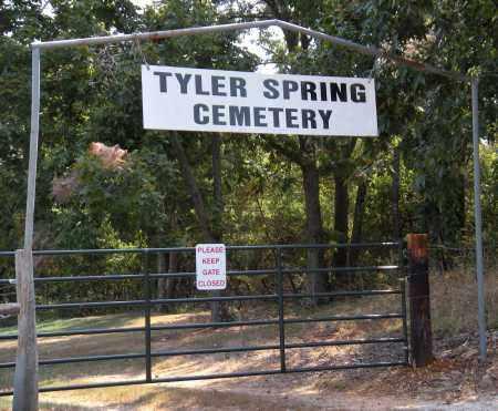 SIGN*, *TYLER SPRING CEMETERY - Adair County, Oklahoma | *TYLER SPRING CEMETERY SIGN* - Oklahoma Gravestone Photos