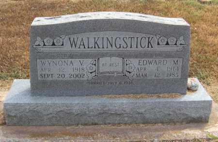 WALKINGSTICK, EDWARD M - Adair County, Oklahoma | EDWARD M WALKINGSTICK - Oklahoma Gravestone Photos
