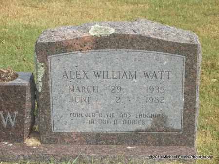 WATT, ALEX WILLIAM - Adair County, Oklahoma | ALEX WILLIAM WATT - Oklahoma Gravestone Photos