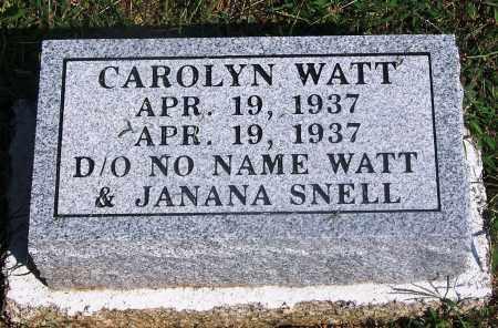 WATT, CAROLYN - Adair County, Oklahoma | CAROLYN WATT - Oklahoma Gravestone Photos
