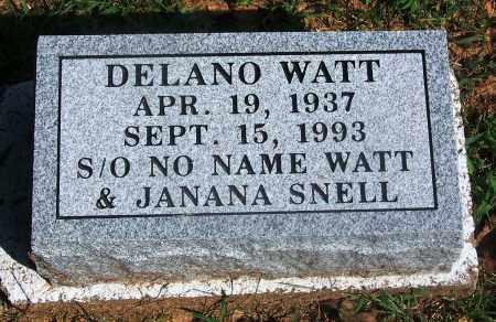 WATT, DELANO - Adair County, Oklahoma | DELANO WATT - Oklahoma Gravestone Photos