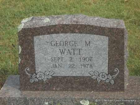 WATT, GEORGE M - Adair County, Oklahoma   GEORGE M WATT - Oklahoma Gravestone Photos