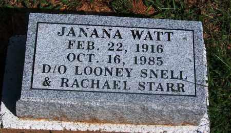 SNELL WATT, JANANA - Adair County, Oklahoma | JANANA SNELL WATT - Oklahoma Gravestone Photos