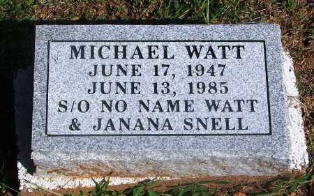 WATT, MICHAEL - Adair County, Oklahoma | MICHAEL WATT - Oklahoma Gravestone Photos