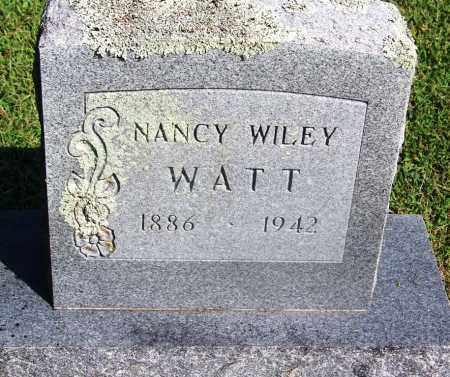 WILEY WATT, NANCY - Adair County, Oklahoma | NANCY WILEY WATT - Oklahoma Gravestone Photos