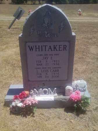 WHITAKER, JAY E - Adair County, Oklahoma | JAY E WHITAKER - Oklahoma Gravestone Photos
