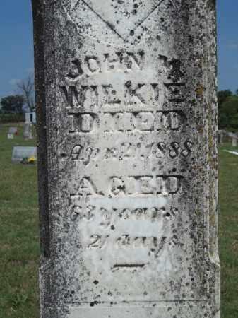 WILKIE (CLOSEUP), JOHN M - Adair County, Oklahoma | JOHN M WILKIE (CLOSEUP) - Oklahoma Gravestone Photos