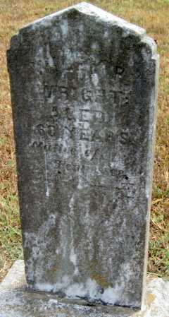 WRIGHT, THOMAS WILEY PERRY - Adair County, Oklahoma | THOMAS WILEY PERRY WRIGHT - Oklahoma Gravestone Photos