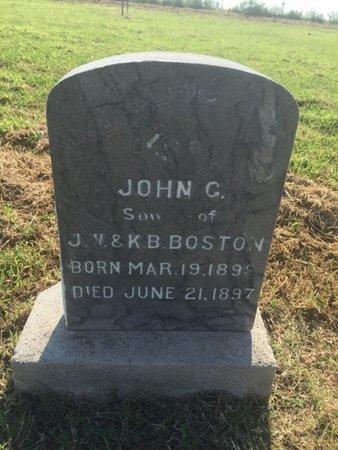 BOSTON, JOHN G - Alfalfa County, Oklahoma | JOHN G BOSTON - Oklahoma Gravestone Photos