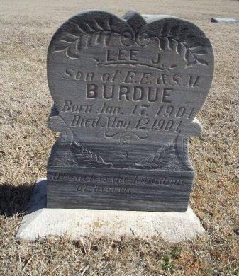 BURDUE, LEE J - Alfalfa County, Oklahoma | LEE J BURDUE - Oklahoma Gravestone Photos