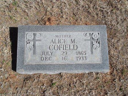 MCCOY COFIELD, ALICE M - Alfalfa County, Oklahoma | ALICE M MCCOY COFIELD - Oklahoma Gravestone Photos