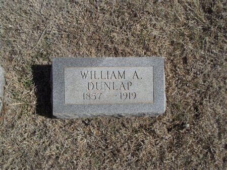 DUNLAP, WILLIAM A - Alfalfa County, Oklahoma   WILLIAM A DUNLAP - Oklahoma Gravestone Photos