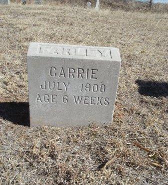 FARLEY, CARRIE - Alfalfa County, Oklahoma | CARRIE FARLEY - Oklahoma Gravestone Photos