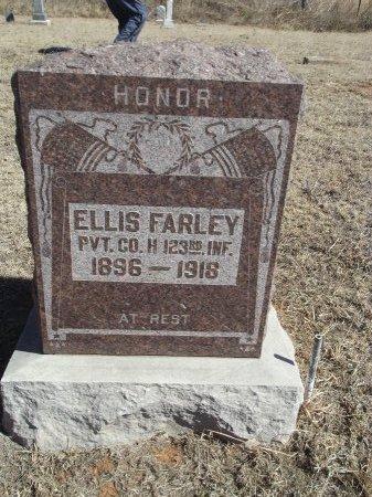FARLEY (VETERAN WWI), ELLIS - Alfalfa County, Oklahoma | ELLIS FARLEY (VETERAN WWI) - Oklahoma Gravestone Photos
