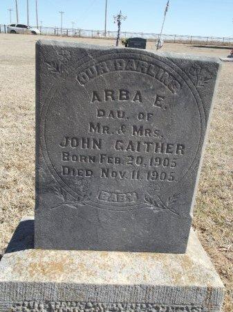 GAITHER, ARBA E - Alfalfa County, Oklahoma | ARBA E GAITHER - Oklahoma Gravestone Photos