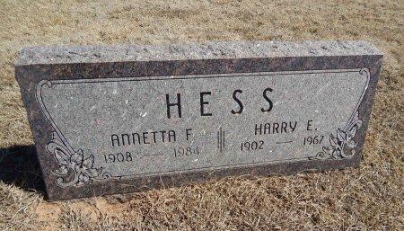 HESS, HARRY E - Alfalfa County, Oklahoma | HARRY E HESS - Oklahoma Gravestone Photos