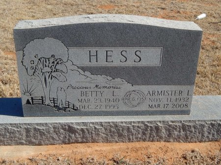 HESS, ARMISTER L - Alfalfa County, Oklahoma | ARMISTER L HESS - Oklahoma Gravestone Photos