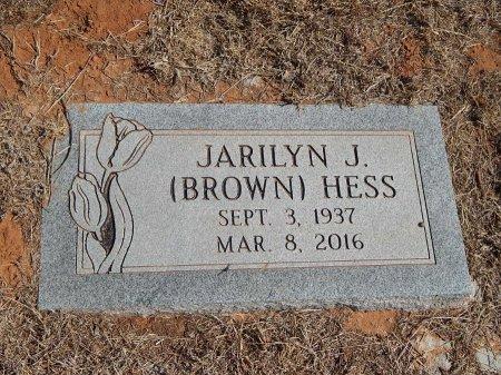 BROWN HESS, JARILYN J - Alfalfa County, Oklahoma   JARILYN J BROWN HESS - Oklahoma Gravestone Photos