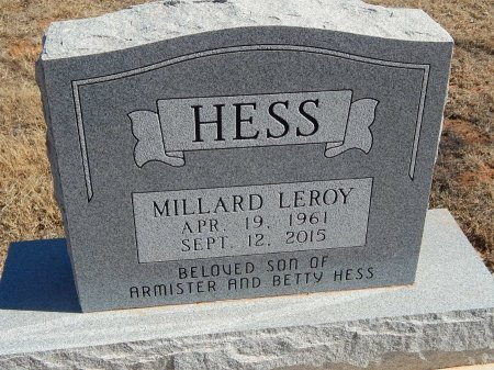 HESS, MILLARD LEROY - Alfalfa County, Oklahoma   MILLARD LEROY HESS - Oklahoma Gravestone Photos