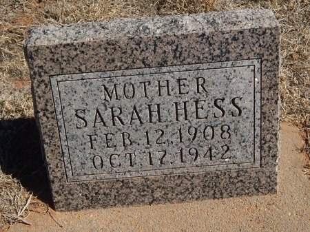 HESS, SARAH - Alfalfa County, Oklahoma | SARAH HESS - Oklahoma Gravestone Photos