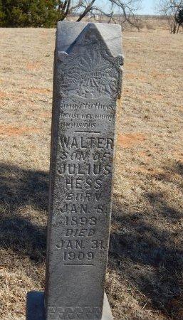 HESS, WALTER - Alfalfa County, Oklahoma | WALTER HESS - Oklahoma Gravestone Photos