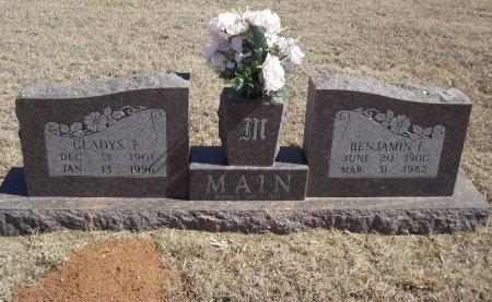 MAIN, GLADYS F - Alfalfa County, Oklahoma | GLADYS F MAIN - Oklahoma Gravestone Photos