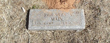 MAIN, VIOLANTA V - Alfalfa County, Oklahoma | VIOLANTA V MAIN - Oklahoma Gravestone Photos