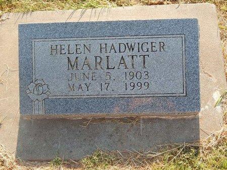 MARLATT, HELEN - Alfalfa County, Oklahoma | HELEN MARLATT - Oklahoma Gravestone Photos
