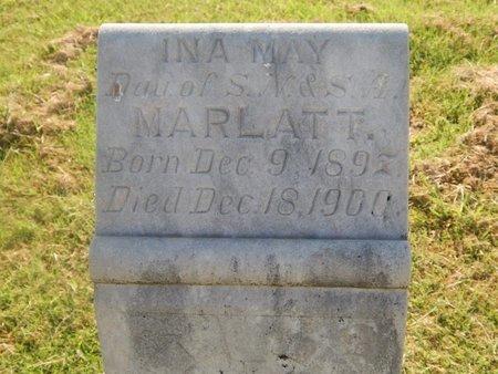 MARLATT, INA MAY - Alfalfa County, Oklahoma | INA MAY MARLATT - Oklahoma Gravestone Photos