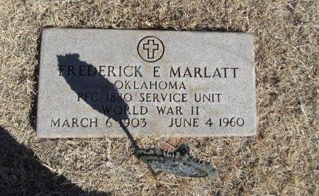 MARLATT (VETERAN WWII), FREDERICK E - Alfalfa County, Oklahoma | FREDERICK E MARLATT (VETERAN WWII) - Oklahoma Gravestone Photos