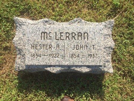 MCLERRAN, HESTER A - Alfalfa County, Oklahoma | HESTER A MCLERRAN - Oklahoma Gravestone Photos