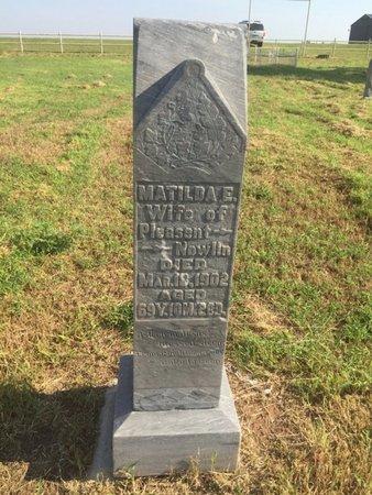 NOWLIN, MATILDA E - Alfalfa County, Oklahoma | MATILDA E NOWLIN - Oklahoma Gravestone Photos