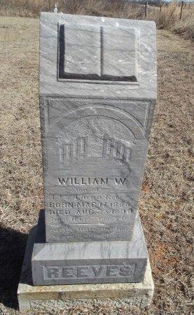 REEVES, WILLIAM W - Alfalfa County, Oklahoma   WILLIAM W REEVES - Oklahoma Gravestone Photos