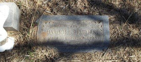 RETHORST, HAROLD E - Alfalfa County, Oklahoma   HAROLD E RETHORST - Oklahoma Gravestone Photos