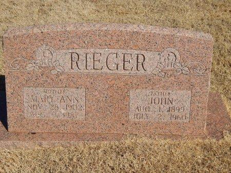 RIEGER, MARY ANN - Alfalfa County, Oklahoma   MARY ANN RIEGER - Oklahoma Gravestone Photos