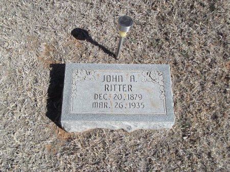 RITTER, JOHN A - Alfalfa County, Oklahoma | JOHN A RITTER - Oklahoma Gravestone Photos
