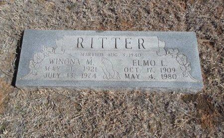 RITTER, ELMO L - Alfalfa County, Oklahoma | ELMO L RITTER - Oklahoma Gravestone Photos