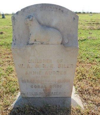 SILER, ANNIE AUDRES - Alfalfa County, Oklahoma | ANNIE AUDRES SILER - Oklahoma Gravestone Photos
