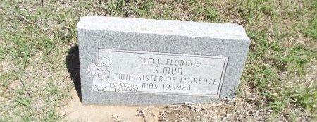 SIMON, ALMA FLORACE - Alfalfa County, Oklahoma | ALMA FLORACE SIMON - Oklahoma Gravestone Photos
