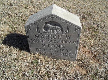 STONE, MARION W - Alfalfa County, Oklahoma   MARION W STONE - Oklahoma Gravestone Photos